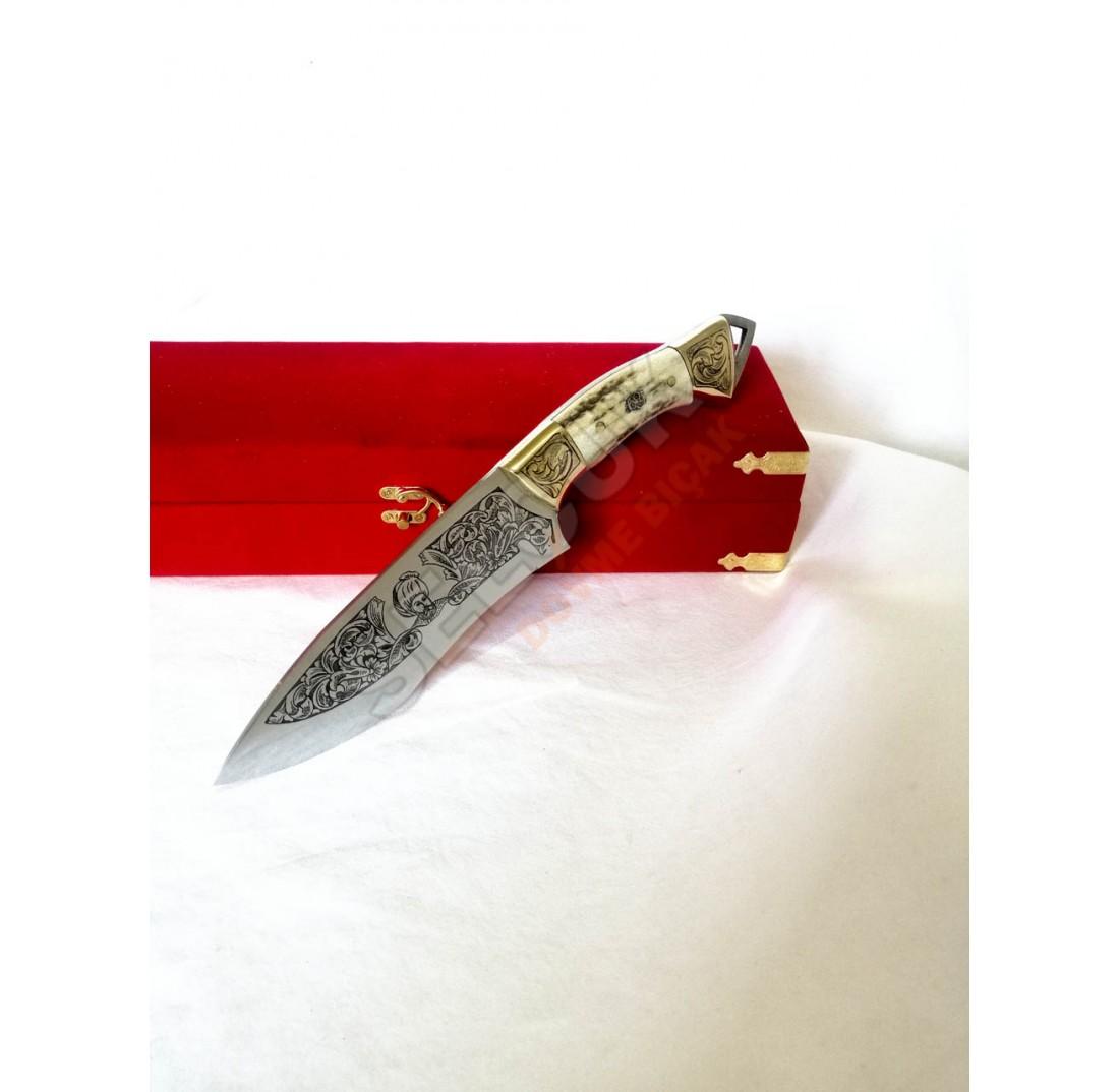 Hazal Gravürlü Dövme Bıçak